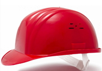Каска строительная Украина (цвет красный) (10622)