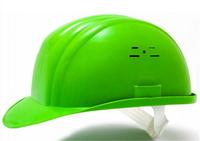 Каска строительная Украина (цвет зелёный) (10623)