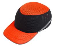 Каска-бейсболка ударопрочная со светоотражающей лентой (цвет оранжево-чёрная)й (цвет серый) (10627)