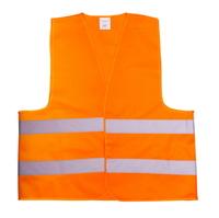 Жилет со светоотр. лентой Китай (цвет оранж) плотность ткани 80г/м2 состав polyester 100% размер 4XL (64см)(10631)