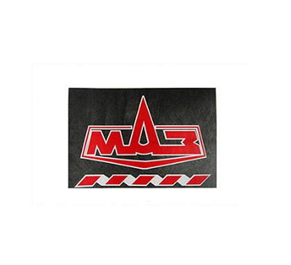 Брызговик 480х330 для грузовика МАЗ красная надпись (рис.) 1082 комплект