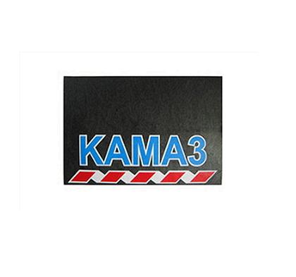 Брызговик для грузовика КАМАЗ размер 480х330 синяя надпись (рис.) 1083 комплект