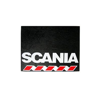 Брызговик для грузовика SCANIA 480х330  белая надпись (рис.)  1086 комплект