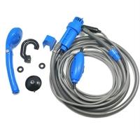 Автомобильный портативный авто душ Sealed для путешествий питание 12В прикуриватель (11165)