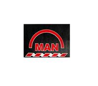 Брызговик для грузовика MAN 480х330  красная надпись (рис.) 1130 комплект MAN