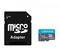 Карта памяти USAMS US-ZB117 MicroSD с адаптером 16GB Class (11426)