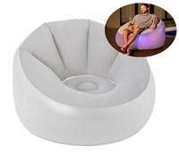 Надувное кресло Bestway 75086, 102 х 97 х 71 см, с LED подсведкой, белое (11445)