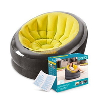 Надувное кресло Intex 66582, 112 х 109 х 69 см, желтое (11452)