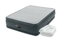Надувная кровать Intex 64414-2, 152 х 203 х 46 см, встроенный электронасос, подушки. Двухспальная (11456)