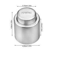 Многоразовая герметичная силиконовая пробка для винных бутылок из нержавеющей стали (11650)