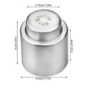 Многоразовая герметичная силиконовая пробка для бутылок шампанского из нержавеющей стали (11651)