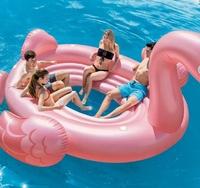 Пляжний надувний острів для вечірок «Фламінго» 358 х 315 х163 см(11624)