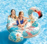 Дитячий надувний пліт для катання «Фламінго» 142 х 137 х 97 см(11623)