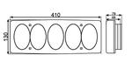 """Фонарь задний """"DAF"""" (5 секций 0) ISIKSAN/ISS 1019 LK/1616"""
