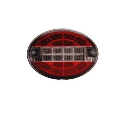 Фонарь задний универсальный круглый ISIKSAN LED (красный с белым)/1639