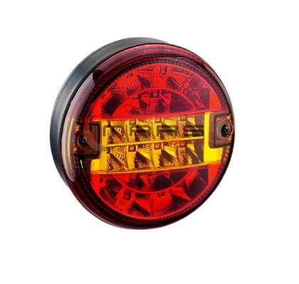 Фонарь задний универсальный круглый MARS LED (красный с желтым)/1640/M720104