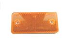 Отражатель прямоугольный желтый 95х45мм/1670/UO 027