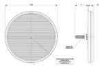 Отражатель круглый белый с болтом (D=75)  UO 035/1695