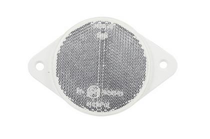 Отражатель белый круглый металлический под болты/3271