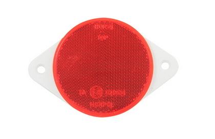 Отражатель красный круглый (D=75) под болты  UO 034/1700