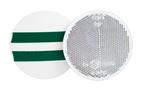 Отражатель круглый белый (D=75) самоклейка UO 038/1701