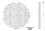 Отражатель круглый красный (D=75) самоклейкаUO 040/1703