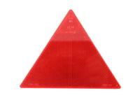 Отражатель треуголный красный без рамки UOT 025/1712