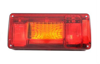 Фонарь задний с желтым поворотом L (218х100) LZT 329 /1720