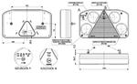 Фонарь задний с треугольником (238х138) L с задним ходом LZT 810/1726