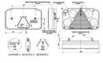 Фонарь задний с треугольником (238х138) L с задним ходом (+ подсветка номера LED)