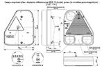 Фонарь задний с треугольным отражателем R с противотуманкой  LZT 754/1737
