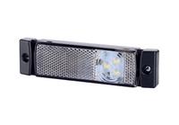 Габаритный фонарь диодный (131х33мм) белый 24v/6751