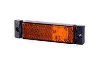 Габаритный фонарь диодный (131х33мм) желтый 24v/6750