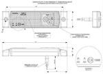 Габаритный фонарь диодный (131х33мм) белый+кабель 1,5м 12/24v/LD 135/1761