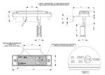 Габаритный фонарь диодный (131х33мм) желтый + кабель 1,5 м 12/24v/LD 133/1762