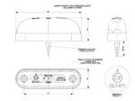 Габарит диодный овал белый + кабель 0,5 м 12/24v/LD 370/1790