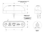 Габарит диодный овал красный + кабель 0,5 м 12/24v/LD 410/1792