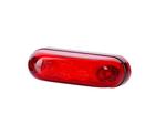 Габарит диодный овал красный + кабель 0,5 м + зажим 12/24v/LD 411/1793