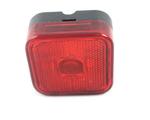 Габаритный фонарь квадратный красный (65х65мм) с отражателем/LО 095/1796