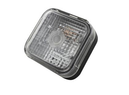 Габаритный фонарь квадратный (65х65мм) белый/LO 090/1797