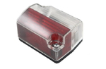 Габаритный фонарь (54х40мм) белый-красный/LO 115/1813