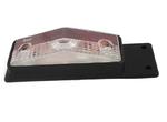 Габаритный фонарь для грузовика белый-красный (95х34мм)  с кронштейном/1821