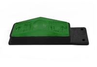 Габаритный фонарь для грузовика зеленый (95х34мм) с кронштейном/1823
