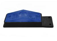 Габаритный фонарь для грузовика синий (95х34мм) с кронштейном/1824