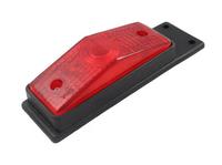 Габаритный фонарь для грузовика красный (95х34мм) с кронштейном/1825