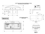 Габаритный фонарь для грузовика красный (95х38мм) с кронштейном/1830/LOP 258