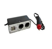 Разветвитель питания на 2 выхода+кабель+2 USB 12V (WF-0200)/1908