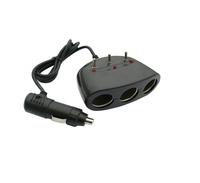 Разветвитель питания на 3 выхода+кабель с выключателем 12/24V/ 1911