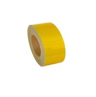 Лента-наклейка светоотражающая рулон 50м*50мм желтая/1919