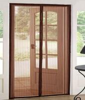 Сетка москитная на дверь AV на магнитах 100 х 210 см коричневая(11621)